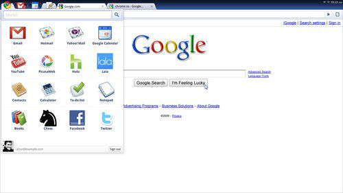 Google操作系统Chrome界面
