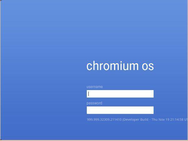 Google Chrome登录界面